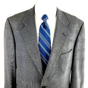 Brooks Brothers Brooksease 40R Windowpane Gray